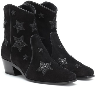 Miu Miu Star suede cowboy boots