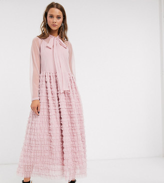 Sister Jane oversized maxi smock dress with full skirt in tiered tulle