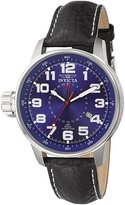 Invicta Men's F0052 Exclusive Force Collection Lefty GMT Black Leather Watch