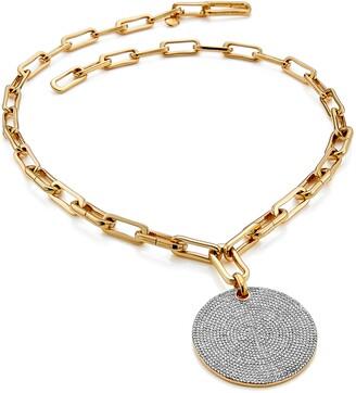 Monica Vinader Ava Large Disc Pendant Necklace