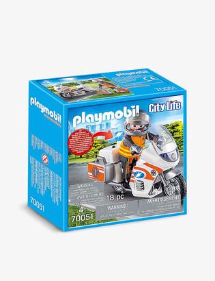 Playmobil City Life emergency motorbike