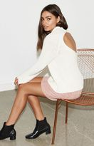 KENDALL + KYLIE Kendall & Kylie Open Back Mock Neck Sweater