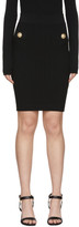 Balmain Black Knit Bodycon Skirt
