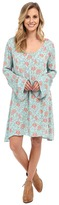 Stetson Tulip Print Peasant Style Dress