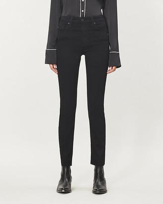 AG Jeans Mari straight high-rise jeans