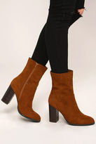 Bamboo Welcomed Addition Black High Heel Mid-Calf Boots