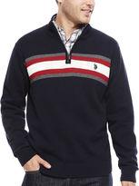 USPA U.S. Polo Assn. Long-Sleeve Striped Quarter-Zip Sweater