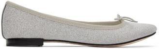 Repetto Silver Cendrillon Star Ballerina Flats