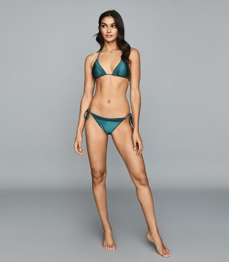 Reiss Elfrieda - Self Tie Bikini Briefs in Green