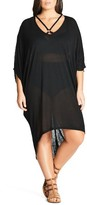 City Chic Plus Size Women's Strap Detail High/low Cover-Up Dress