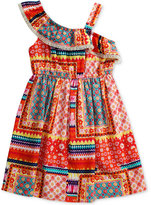 Sweet Heart Rose Patchwork One-Shoulder Dress, Toddler and Little Girls (2T-6X)