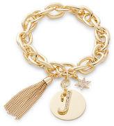 RJ Graziano J Initial Chain-Link Charm Bracelet