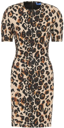 Thierry Mugler Leopard-print jersey dress