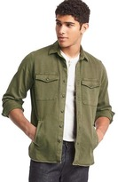 Gap Stretch utility shirt jacket