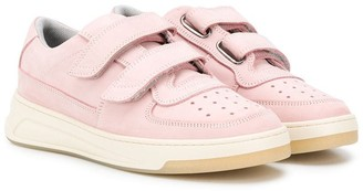 Acne Studios Kids Double-Strap Trainers