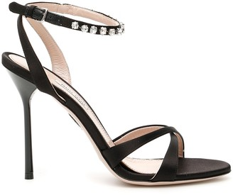 Miu Miu Embellished Straps Sandals