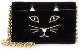 Charlotte Olympia Feline Purse Velvet Shoulder Bag