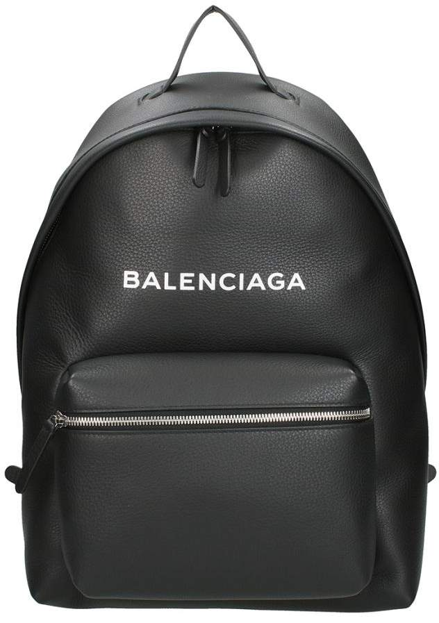 Balenciaga Black Leather Everyday L Backpack