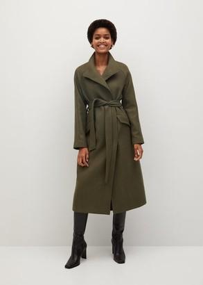MANGO Woollen coat with belt