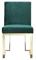 Dexter Upholstered Dining Chair Willa Arlo Interiors Upholstery Color: Velvet Green, Leg Color: Gold