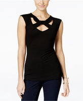 INC International Concepts Cap-Sleeve Cutout Top, Only at Macy's