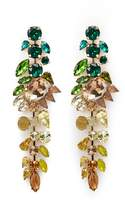 Jardin Ombré strass geometric drop earrings
