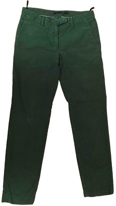 Sofie D'hoore Green Cotton Trousers for Women