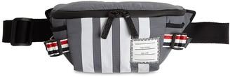 Thom Browne 4 Bar Print Grosgrain Nylon Belt Bag
