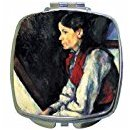 Boy With Red Vest Compact Mirror By Paul Cezanne