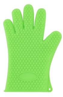 Online ONLINE Heat Resistant Silicone Grilling Glove - Green