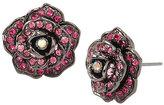 Betsey Johnson Garden Of Excess Rose Button Earring