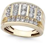 Macy's Men's Diamond Elevated Cluster Ring (2 ct. t.w.) in 10k Gold