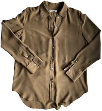 Everlane Khaki Silk Top for Women