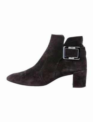 Roger Vivier Suede Boots Black