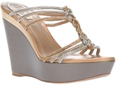 Rene Caovilla crystal studded wedge sandal