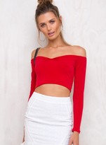 Motel Quelyn Top Heart Red