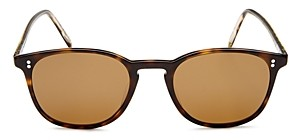 Oliver Peoples Unisex Finley Vintage Polarized Square Sunglasses, 49mm