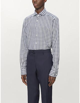 Eton Checked slim-fit woven-twill shirt