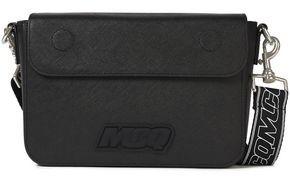 McQ Logo-embellished Textured-leather Shoulder Bag
