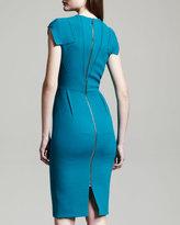 Roland Mouret Breccia Fold-Detail Dress