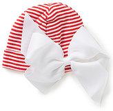 Mud Pie Baby Girls Newborn-3 Months Striped Bow Hat