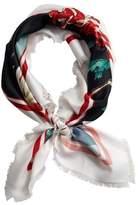 Violeta BY MANGO Flowers printed scarf