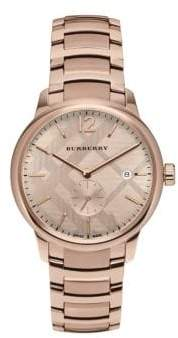 Burberry Rose Gold & Stainless Steel Bracelet Watch
