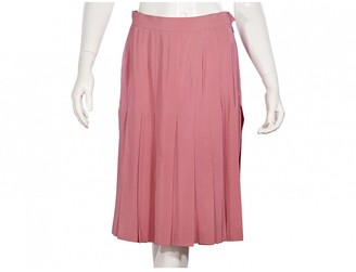 Chanel Pink Silk Skirts