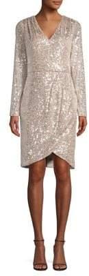 Calvin Klein Sequin Embellished Knee-Length Dress