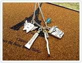 Happiness Home Dental Hygienist necklace Antique silver tooth fairy/toothbrush/toothpaste /D...