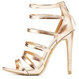 Charlotte Russe Metallic Strappy Dress Sandals