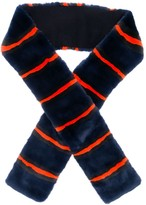 N.Peal striped scarf