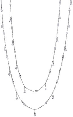 Nephora By The Yard 14K White Gold Diamond Dangle Necklace