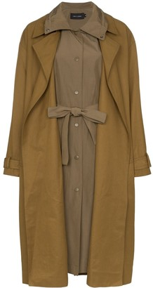Low Classic layered trench coat